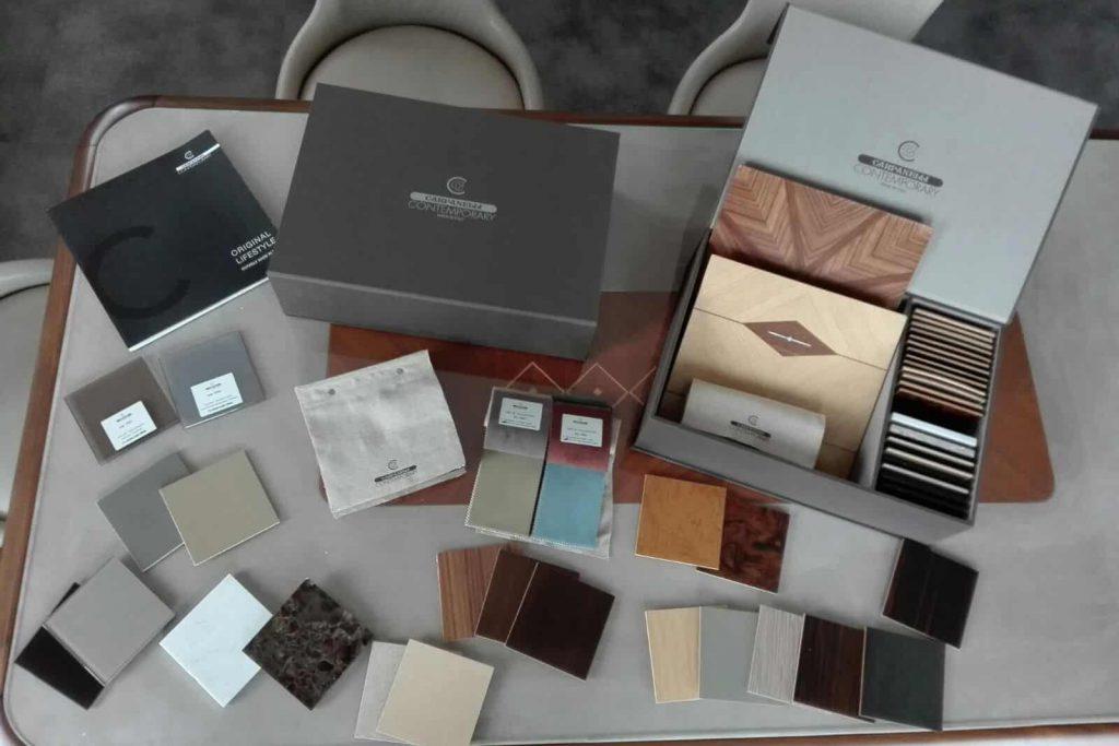 Box set Carpanelli Tessuti e Campioni